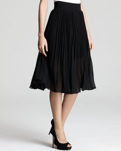 Aqua Skirt - Midi Pleated #Bloomingdales