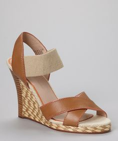 Leather Wedge Sandal - Women by Tommy Bahama #zulilyfinds