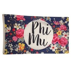 Phi Mu Floral Flag by NowGreek on Etsy
