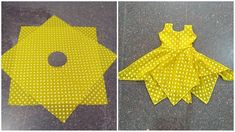 Hanky cut frock cutting and stitching in malayalam Girls Frock Design, Kids Frocks Design, Baby Frocks Designs, Baby Dress Design, Girls Dresses Sewing, Dresses Kids Girl, Kids Outfits, Baby Girl Frocks, Frocks For Girls