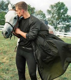 Versace's SS 2017 Ad Campaign by Bruce Weber. #fashion #horses #adcampaign #menswear