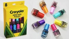 nunca quise tanto unas crayolas como ahora!! crayola nail polish!! wow!!