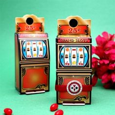 Cute favor boxes for a Casino Theme party