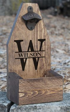 PERSONALIZED BEER Bottle Opener & Catcher by AbsoluteImpressions