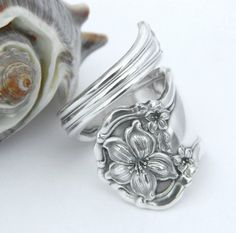 Silver Spoon Ring   Orange Blossom 1910 by CaliforniaSpoonRings, $24.50