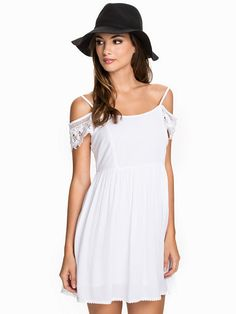 Embellished Smock Dress - New Look - White - Party Dresses - Clothing - Women - Nelly.com
