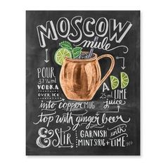 Moscow Mule Cocktail Recipe - Print #cocktail #Cooking #Food