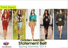 Gold Metallic Statement Belt #FashionTrend for Spring Summer 2014 #fashion2014 #spring2014 #trends #belt #metallic #metallica #gold