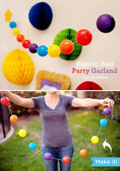 This Colorful Plastic Ball Garland Is a Cute Addition to Any Celebration