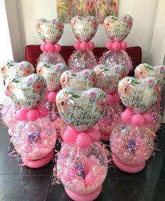 Mother's Day gift balloons with chocolates inside Mothers Day Balloons, Valentines Balloons, Balloon Crafts, Balloon Gift, Birthday Balloon Decorations, Birthday Balloons, Bubble Balloons, Baby Shower Balloons, Personalized Balloons