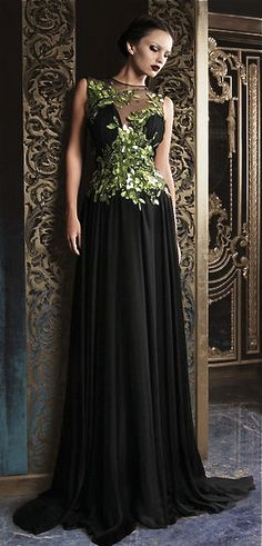 13+Most+Beautiful+Long+Black+Dresses+From+RAMI+KADI