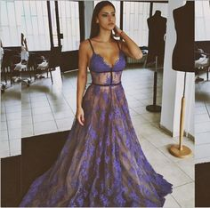 2017 Lavender Sexy Lace Prom Dresses Long See-Through Arabia Homecoming Maxi Gowns Sheer Prom Gown Graduation Gown Vestidos Lace Prom Gown, Backless Prom Dresses, Ball Gowns Prom, A Line Prom Dresses, Ball Dresses, Sexy Dresses, Formal Dresses, Dress Lace, Dress Prom