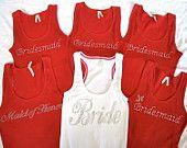 Bride, Maid of Honor Bridesmaid Tank Tops, Bridesmaid Gifts, Bridesmaid Dresses, Bridesmaids, Wedding Bells, Wedding Day, Wedding Shit, Wedding Dreams, Wedding Things