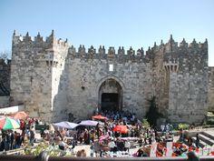 Damascus Gate, Jerusalem...we saw this...November 2012 with Polk Street Methodist Tour