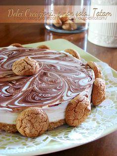 Cheesecake variegata Nutella e amaretti | ricetta senza cottura