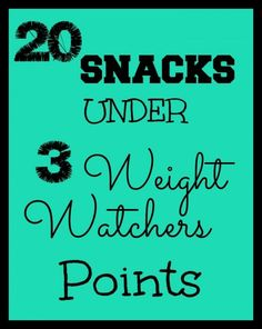 Weight Watchers Low Point Snacks - 20 Snacks Under 3 Points! Weight Watchers Program, Weight Watchers Snacks, Weight Watchers Smart Points, Weight Loss Snacks, Healthy Weight Loss, Weight Watchers Breakfast, Skinny Recipes, Ww Recipes, Recipies