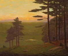 """Valley at Sunset,"" Charles Warren Eaton, oil on canvas, 20 x 24"", private collection."