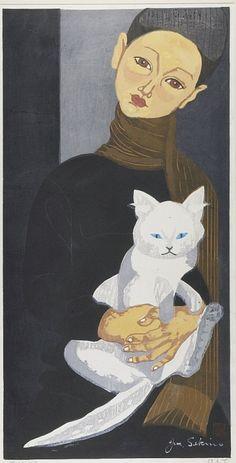 Sekino Jun'ichiro: Boy Holding a Cat