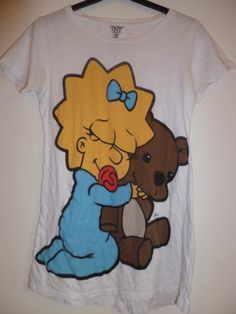 bershka maggie simpson picture cute tunic tshirt top tee