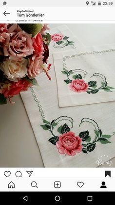 Cross Stitch Charts, Flower Crafts, Diy And Crafts, Flowers, Cross Stitch Rose, Cross Stitch Patterns, Cross Stitch Embroidery, Towels, Crafts
