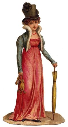 Vintage Image – Regency Woman with Top Hat