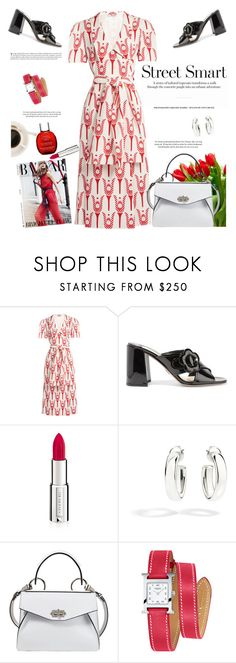 """""""Tulips"""" by naki14 ❤ liked on Polyvore featuring Miu Miu, Prada, Givenchy, Pomellato, Proenza Schouler, Hermès, Clarins, flower, tulips and Spring2017"""