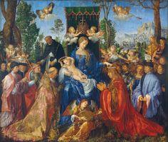 Daily artworks: Albrecht Dürer (1471 - 1528) Feast of Rose Garlands (1506)