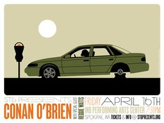 Conan O'Brien 2010 show poster by Invisible Creature - Invisible Creature - Gallery Invisible Creature, Storm Thorgerson, Inspiration For The Day, Design Inspiration, Conan O Brien, Poster Ads, Comedy Show, Print Magazine