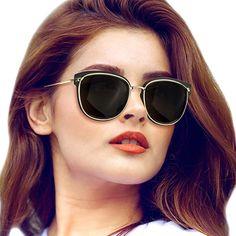 71c8bc42801 RazLiubit Fashion Vintage Oversized Cat Eye Sunglasses for Women Driving  Polarized Lens UV400 Protection Cat Eye