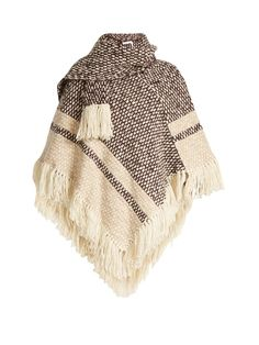 See By Chloé Fringed wool-blend poncho