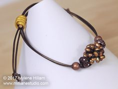 Make your leather jewellery adjustable by finishing it with a sliding knot. Scroll down to the video below to see how easy it is to make one.