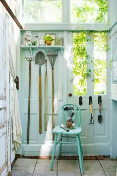 Build a Greenhouse or Potting Garden Shed From Old Windows & Doors #buildingagardenshed