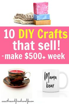 10 Easy DIY Crafts To Sell Or Give As Gifts - This Work From Home Life diy home crafts to sell - Diy Crafts For Home Diy Gifts To Sell, Easy Crafts To Sell, Diy Projects To Sell, Easy Craft Projects, Sell Diy, Diy Home Crafts, Fun Crafts, Easy Gifts, Craft Fair Ideas To Sell