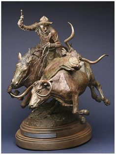 Turning the Leaders - John Wade Hampton Small Sculptures, Animal Sculptures, Horse Sculpture, Bronze Sculpture, Wood Carving Art, Wood Art, John Wade, Animal Statues, Cowboy Art