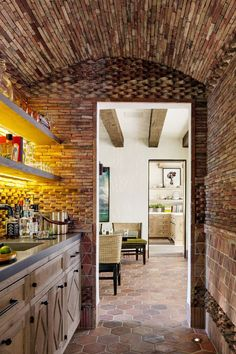 We're spotlighting 38 chic home bar ideas to inspire you. Whether you want to build out a home bar, or just want to turn part of your kitchen counter into one, we've got ideas to help you make it happen below. Spanish House, Spanish Colonial, Spanish Style, Spanish Revival, Bay Area Housing, Home Bar Designs, Interior Decorating, Interior Design, Bar Interior