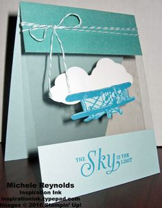 Sky Is the Limit Floating Plane by Michelerey - Cards and Paper Crafts at Splitcoaststampers