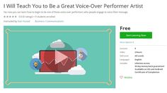 Coupon Udemy - I Will Teach You to Be a Great Voice-Over Performer Artist (Free)…