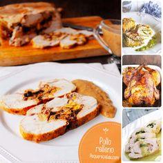 Pollo relleno. Si os gustan las recetas de pollo, no os perdáis estas 4 ideas de pollo relleno. 4 recetas paso a paso de pollo relleno.