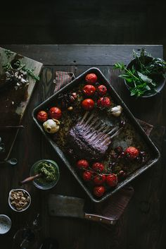 Cabernet Rack of Lamb Dinner with a Mint, Pistachio, & Fennel Pesto Recipe by Eva Kosmas Flores