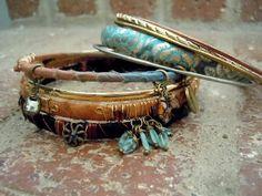 Bohemian Bracelet / Sari Silk Bangles / Gypsy Bracelet /  Boho Jewelry / Gypsy Jewelry / Sari Silk / Ethnic Jewelry / Gypsy Bangles