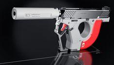 POTD: The AEROMECH APS-F1 Handgun System Concept -The Firearm Blog Sci Fi Weapons, Weapon Concept Art, Fantasy Weapons, Weapons Guns, Fantasy Dagger, Fantasy Art, 3ds Max Tutorials, Max Steel, Futuristic Armour