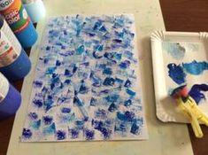 Deštníky, deštivé počasí, kapky vody Plastic Cutting Board, Origami, Winter Time, Pintura, Origami Paper, Origami Art