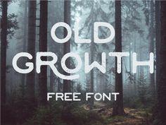 """Popatrz na ten projekt w @Behance: """"OLD GROWTH - FREE FONT"""" https://www.behance.net/gallery/41927785/OLD-GROWTH-FREE-FONT"""