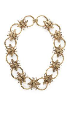 Carole Tanenbaum Bumble Bee Necklace at Moda Operandi
