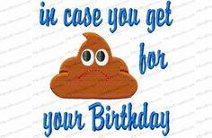 crap for birthday tp