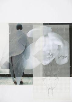 Fashion Sketchbook page - fashion design based on organic shapes; fashion portfolio // Dani Hermann
