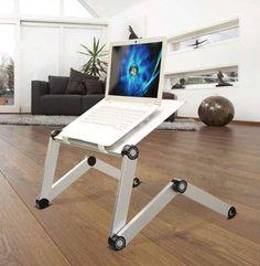 Mesa Plegable Para Notebook Aluminio Doble Cooler Usb Base