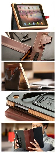 Aria Case from Pad & Quill. The best leather iPad Mini Case I've ever seen! Sometimes low tech is the new high tech.