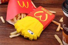 Moschino Motiv Pommes frites Schutzhülle für iPhone 4/5/6/6plus Weich Silikon - Prima-Module.Com