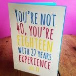 40th Birthday Card Printable